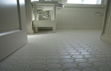 Small Bathrooms White Hexagon Concrete Bathroom Floor Tile