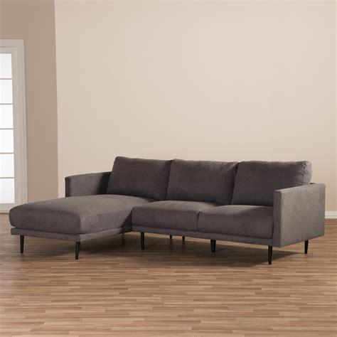 chaises retro baxton studio retro mid century modern grey fabric