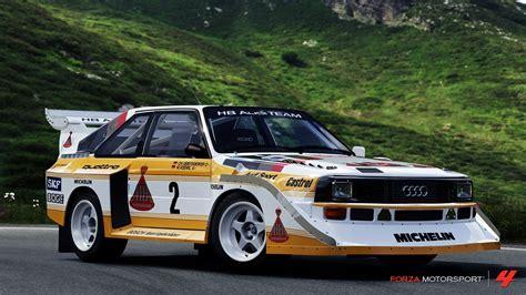 audi sport quattro s1 audi audi quattro car rally cars sports car audi sport quattro s1 forza motorsport 4