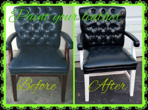 Spray Paint Leather Sofa by How To Spray Paint A Leather Chair And Make Disappear