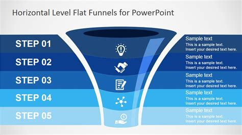 flat funnel powerpoint template slidemodel