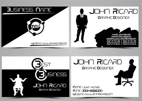 Black And White Style People Business Cards Vector Free Business Model Canvas Channels Examples Espa�ol Plan Templates For Pages Patterns Vending Machines Plans Handbook Volume 23 Pdf Adidas Slideshare