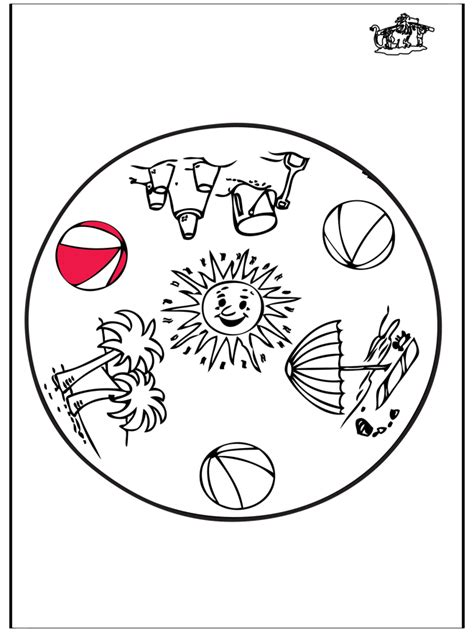 sommer mandala malvorlagen kindermandalas