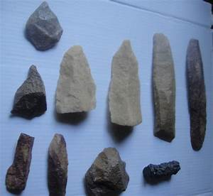 Prehistoric collection: Paleolithic stone tools - silica ...