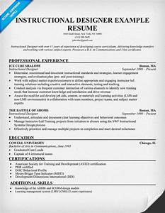 instructional designer resume example resumecompanioncom With sample cover letter for instructional designer
