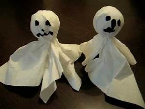 Halloween Sachen Basteln : gespenster basteln zu halloween youtube ~ Whattoseeinmadrid.com Haus und Dekorationen