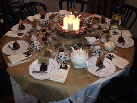 christmas tea party table decorations photograph christmas