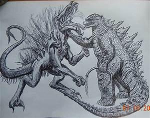 Godzilla 2014 vs Lickyardrah 2014 by BozzerKazooers on ...