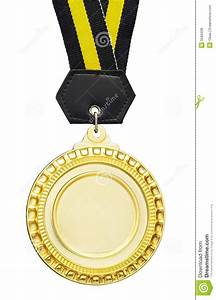 Blank medal stock photo. Image of gold, first, achievement ...