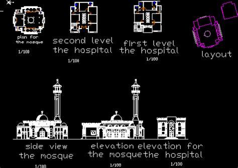 mosque  autocad  cad   kb bibliocad
