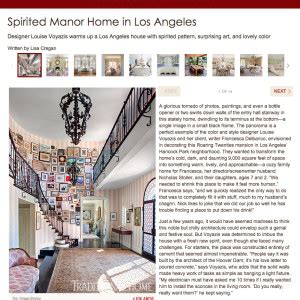 Spirited Manor Home Los Angeles by Press Louise Voyazis