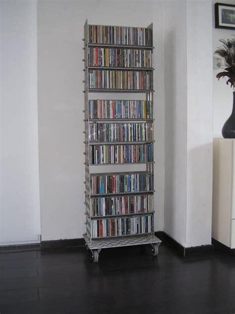 cd rack  upcycled treadplate recyclart