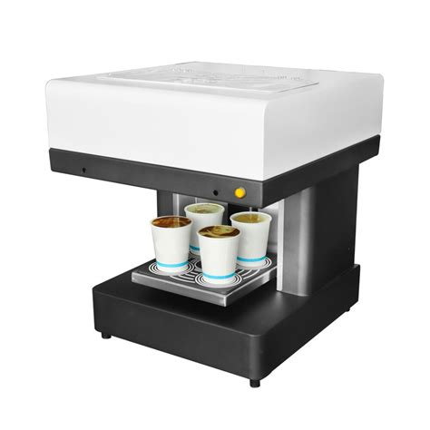 This gnfei coffee printer not only can print on foam drinks but also on foods.more details please email: DIY Coffee Printer 4 cups Automatic Art Coffee Printer ...
