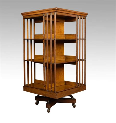Revolving Bookcase by Large Oak Revolving Bookcase Antiques Atlas