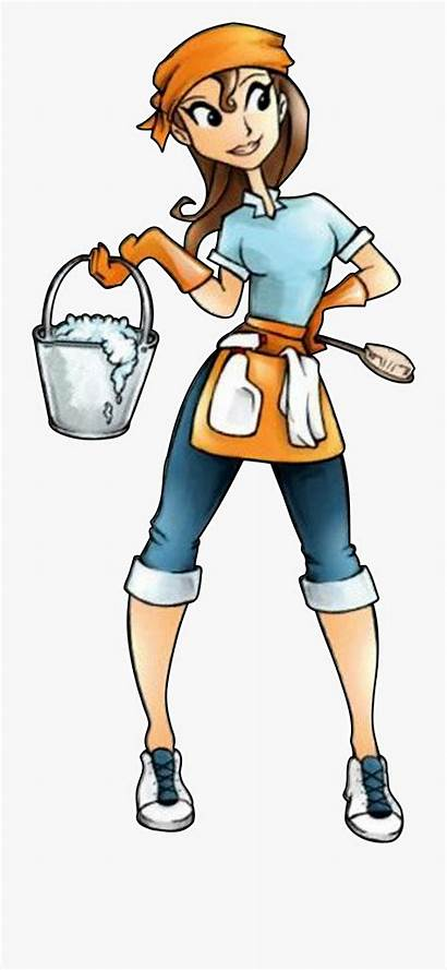 Cleaning Lady Clipart Clip Cartoon Professional Silhouette