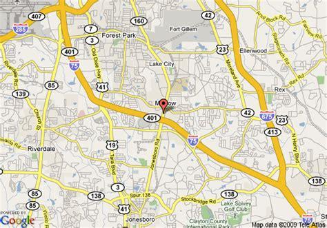 this is it morrow ga map of best western southlake inn morrow