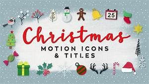 christmas motion icons titles holidays after effects With motion 5 title templates