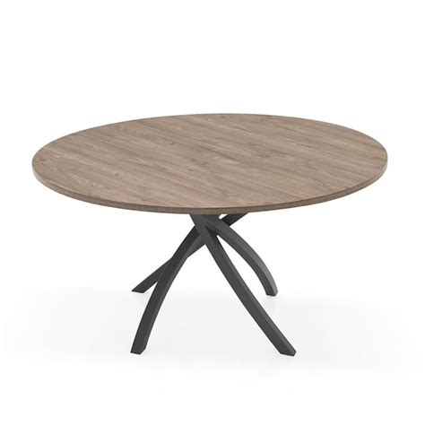 table ronde pied central bois massif myqto