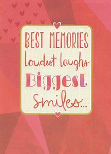 Red Letters in Thin Gold Foil Frame Best Friend Valentines ...
