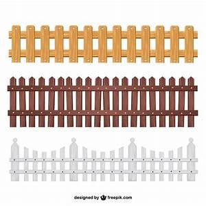 Colección vallas de madera Descargar Vectores Premium