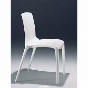 Chaise Design Blanche : chaise design blanche tiffany et chaises casprini toulouse marseille lyon ~ Teatrodelosmanantiales.com Idées de Décoration
