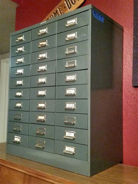 steelmaster  drawer file cabinet apothecary vintage