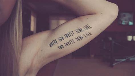 bras interieur tatouage phrase int 233 rieur bras femme