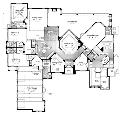 home plans com villa borguese 6431 5 bedrooms and 5 baths the house