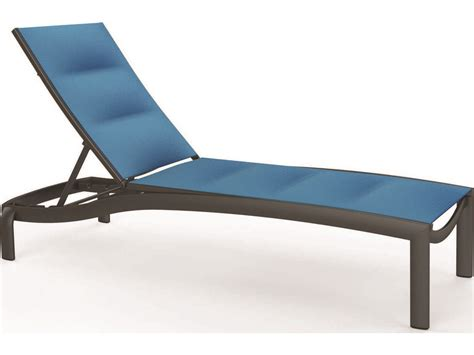 chaise alu tropitone kor padded sling aluminum chaise lounge armless tp891533ps