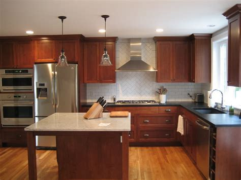 Cherry Cabinets With Light Wood Floors HARDWOODS DESIGN