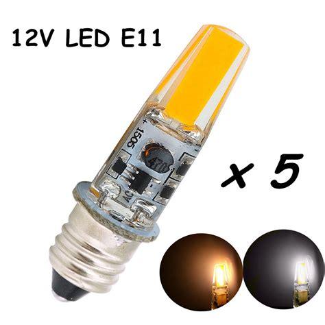 12v 2w candelabra e11 base led light cob chips edison