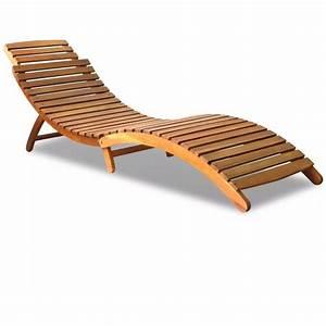 Bain De Soleil Pliable : bain de soleil pliable en acacia 41434 jardin piscine ~ Teatrodelosmanantiales.com Idées de Décoration