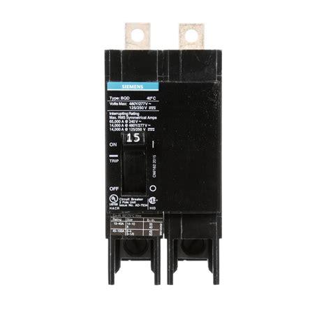 Siemens Amp Double Pole Type Bqd Bolt Circuit