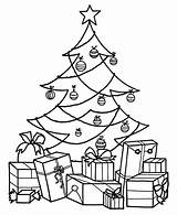 Presents Coloring Pages Christmas sketch template