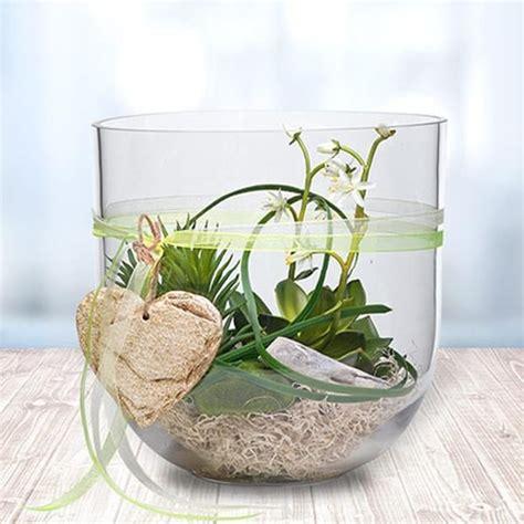Im Glas Dekorieren by Glas Voll Mit Gr 252 Nen Pflanzen Tischdeko Deko
