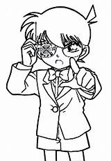 Coloring Pages Detective Conan Bullet Drug Targeting Shoot Mori Easy Getcolorings Button Using sketch template