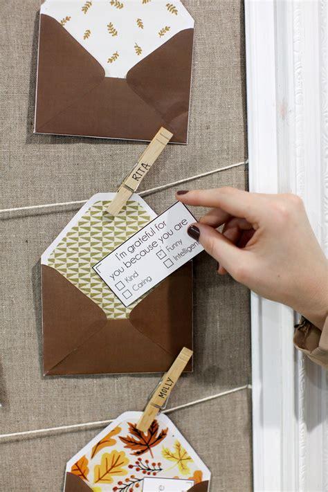 diy gratitude notes  envelopes evite