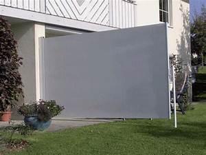 Hofsaess markisen sonnenschutz neuheiten seitenmarkise for Wind sichtschutz terrasse