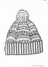 Winter Hat Coloring Printable Mandala Pages Mittens Preschool Craft Hats Crafts Template Snowman Pattern Printables Kindergarten Preschoolers Easy Preschoolcrafts sketch template