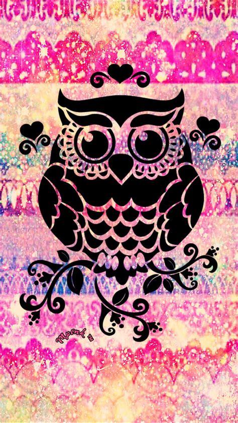 heart owl galaxy wallpaper androidwallpaper