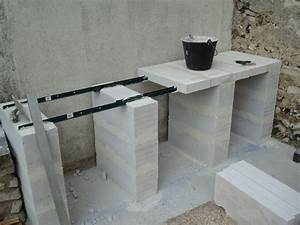 construction d39un barbecue sur mesure terrasse With beton cellulaire exterieur barbecue
