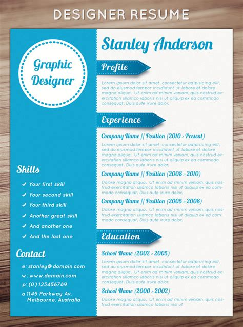 Free Graphic Design Resume Template Word by 21 Stunning Creative Resume Templates