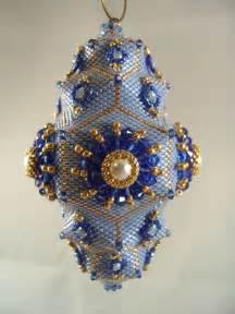 pattern tutorial beaded christmas ornament