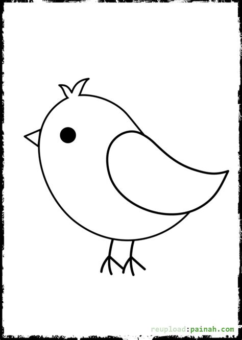 baby bird coloring pages  cute birds litle pups