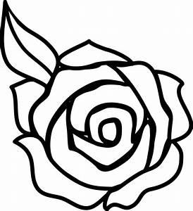 Flower Clipart Black And White