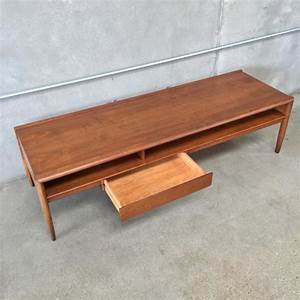 drexel mid century coffee table with drawer urbanamericana With mid century coffee table with drawers