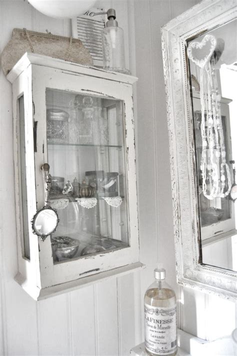 Shabby Chic Wall Cabinets For The Bathroom by Vintage Nicho Working Beautifully In A Bath The