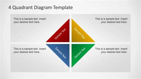 quadrant shapes  powerpoint