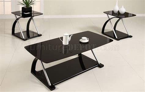 glass living room table walmart black glass modern 3pc coffee table set w metal frame