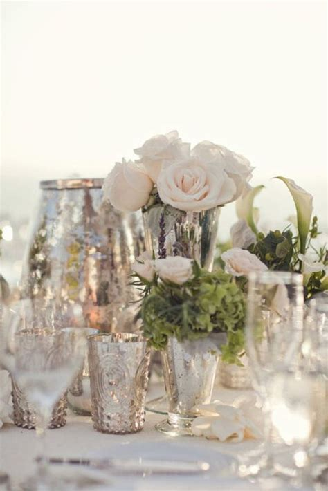 stylish mercury glass vases that add pizzazz to any d 233 cor - Mercury Vases Wedding
